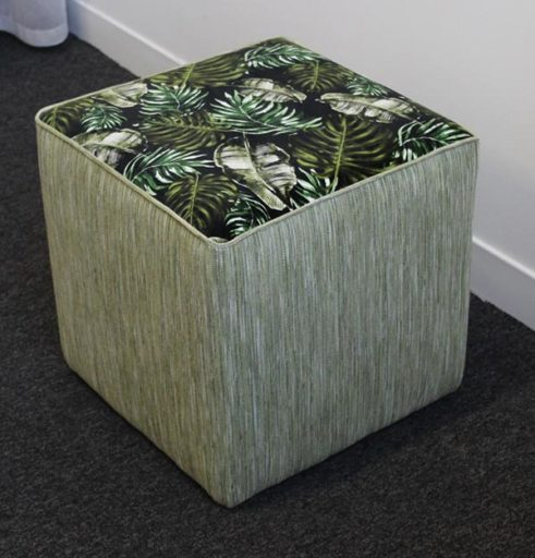 Victoria Gayle Interiors Cube Footstool